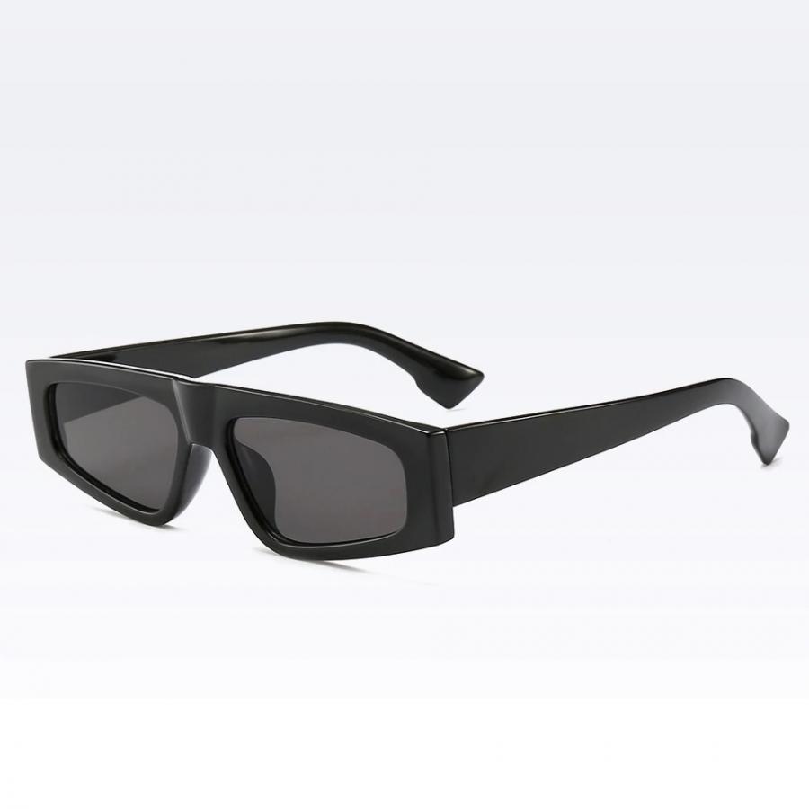 Rita Kare Dar Çerçeveli Küçük Unisex Güneş Gözlüğü Siyah