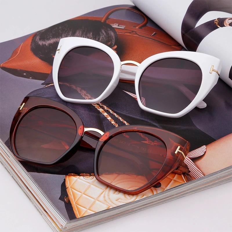 Samantha Degrade Camlı Cat Eye Güneş Gözlüğü Beyaz