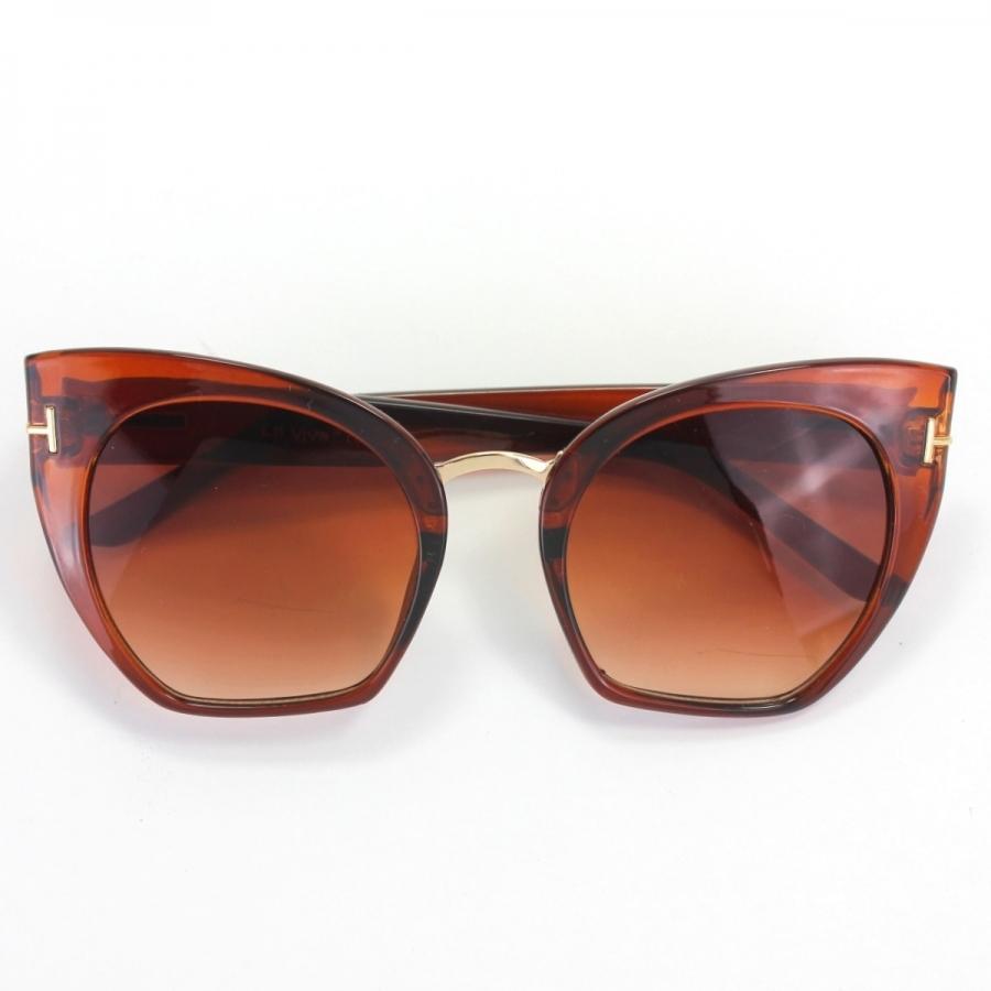 Samantha Degrade Camlı Cat Eye Güneş Gözlüğü Kahverengi