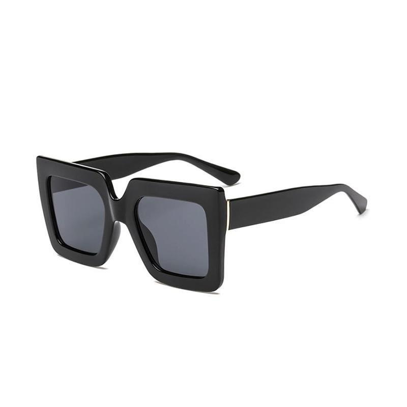 Sense Kalın Çerçeveli Büyük Kare Güneş Gözlüğü Siyah
