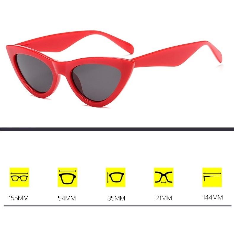 Shades Cat Eye Güneş Gözlüğü Kırmızı