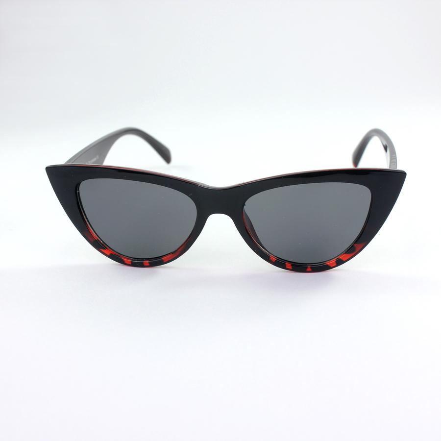 Shades Cat Eye Güneş Gözlüğü Siyah Altı Leopar
