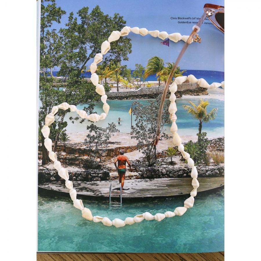 Shell Deniz Kabuklu Gözlük Zinciri Beyaz