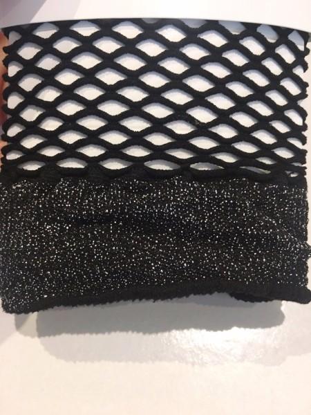 Simli File Soket Çorap Siyah