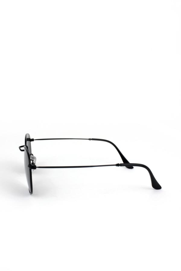 So Moody Siyah Metal Çerçeveli Küçük Yuvarlak Unisex Güneş Gözlüğü Siyah