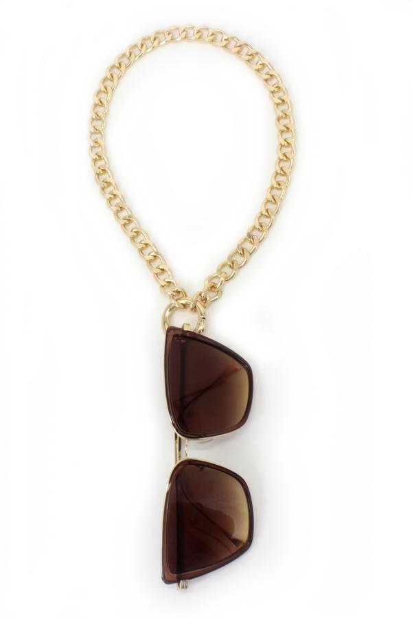 Sorella Gözlük Askılı Kolye Gözlük Zinciri Gold