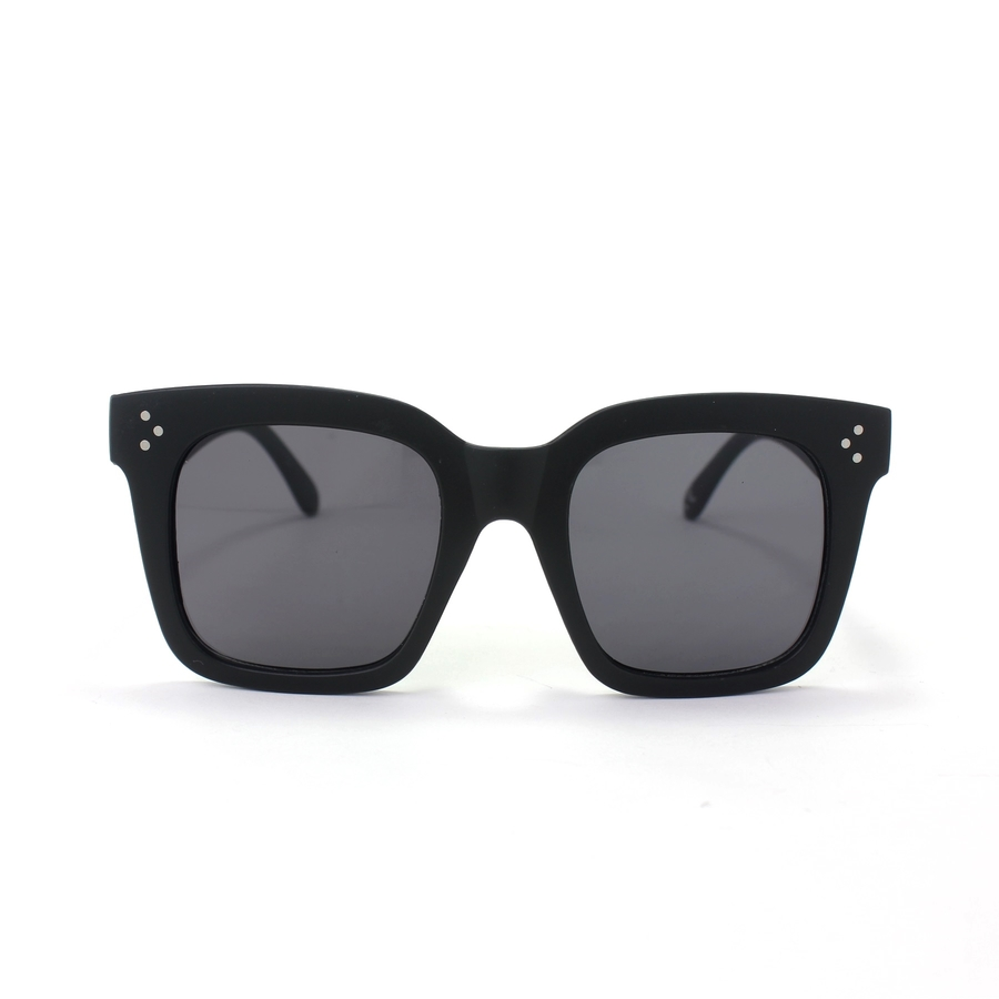 Tilda Kalın Kare Çerçeveli Güneş Gözlüğü Mat Siyah