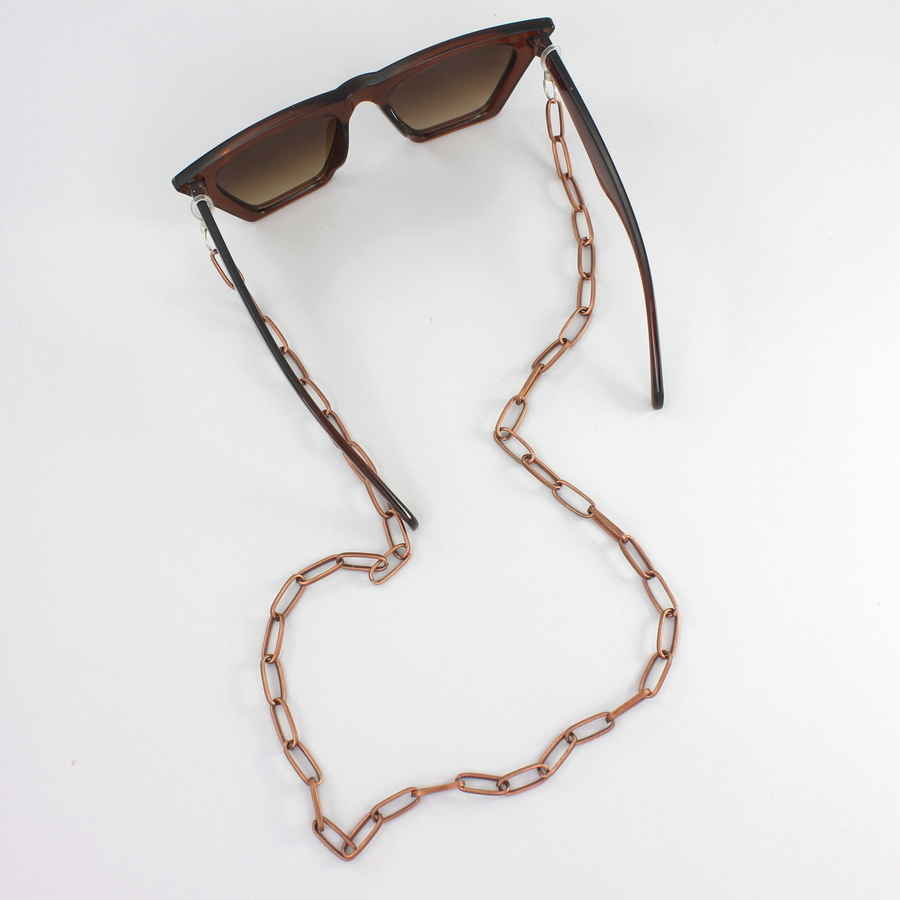 Uzun Oval Zinciri Gözlük Zinciri Bronz
