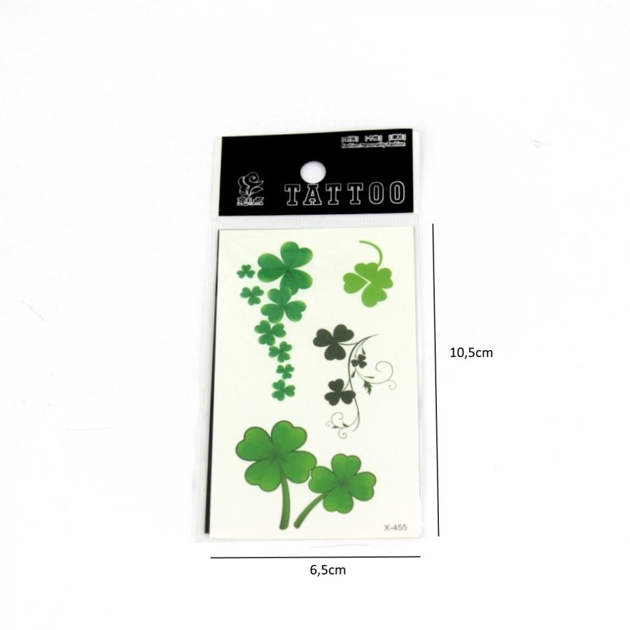Yeşil Yonca Geçici Dövme