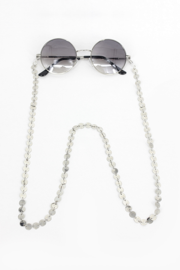 Always Büyük Pullu Gözlük Zinciri Silver
