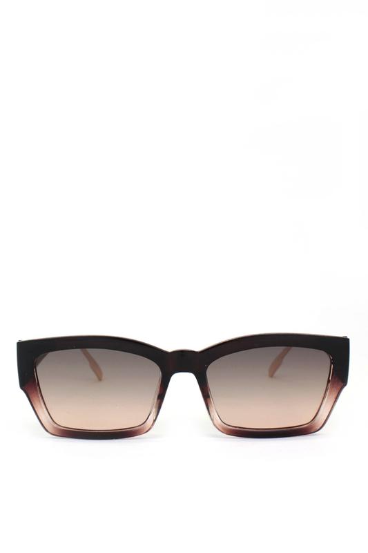 Audrey Kahverengi Camlı Cat Eye Kemik Bayan Güneş Gözlüğü Şeffaf Kahverengi