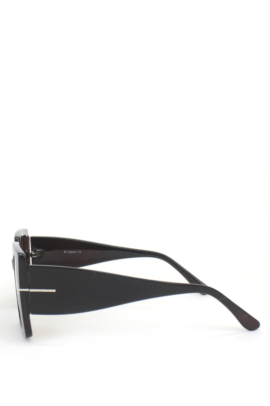 Audrey Kahverengi Degrade Camlı Büyük Kare Bayan Güneş Gözlüğü Kahverengi