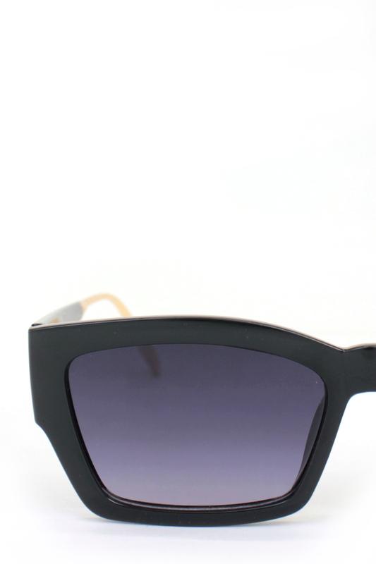 AudreySiyah Camlı Cat Eye Kemik Bayan Güneş Gözlüğü Gold Siyah