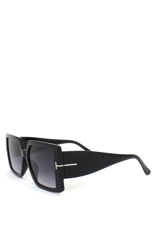 Audrey Siyah Degrade Camlı Büyük Kare Bayan Güneş Gözlüğü Siyah