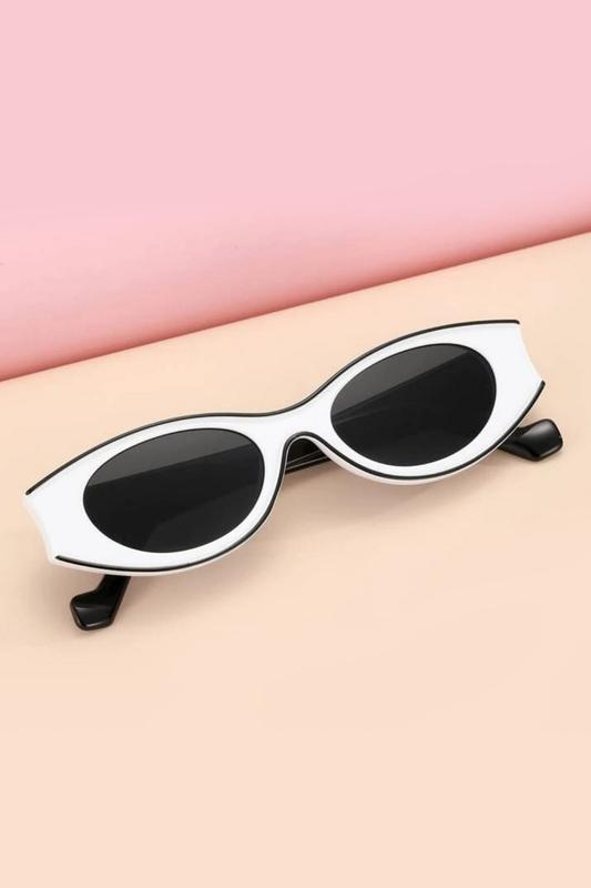 Beachside Özel Tasarım Yuvarlak Kemik Çerçeveli Güneş Gözlüğü Beyaz