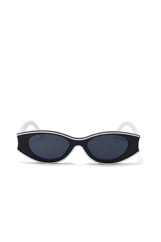Beachside Özel Tasarım Yuvarlak Kemik Çerçeveli Güneş Gözlüğü Siyah