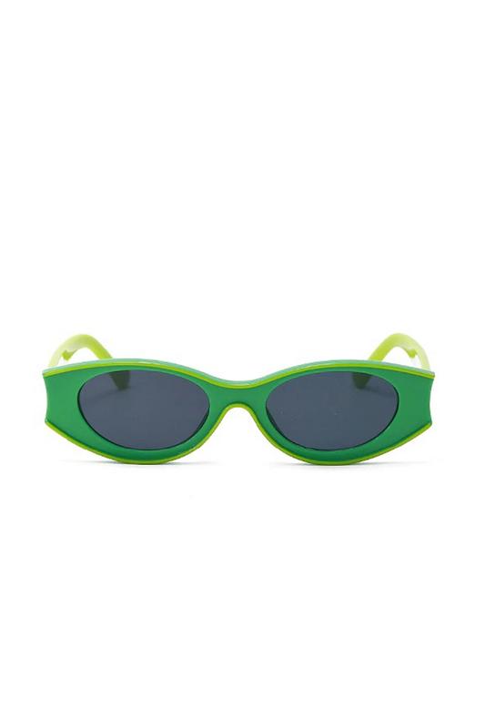 Beachside Özel Tasarım Yuvarlak Kemik Çerçeveli Güneş Gözlüğü Yeşil