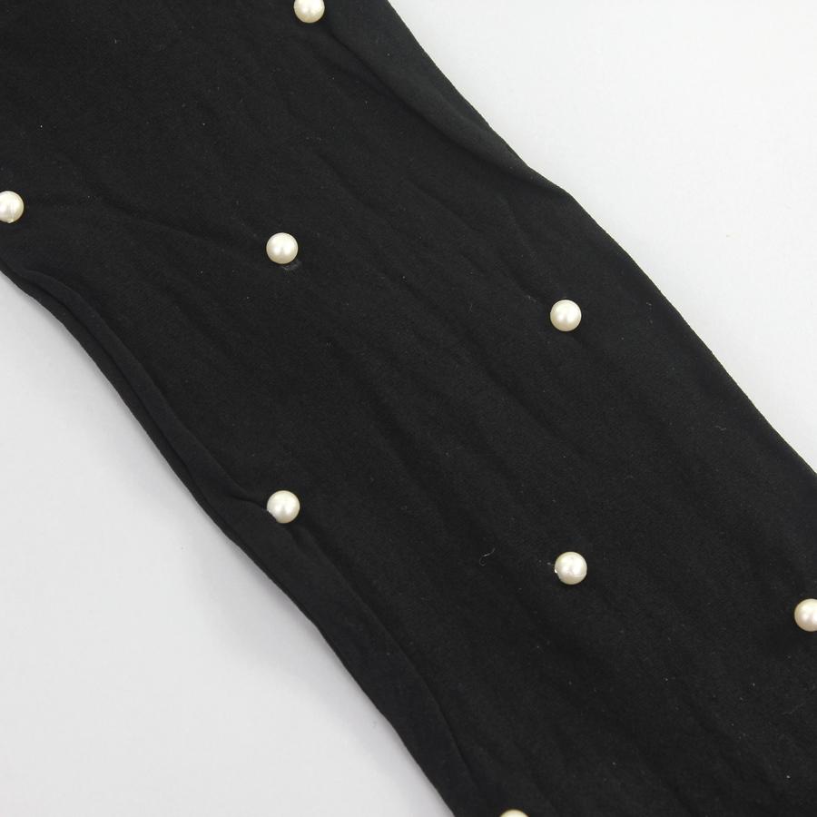 Beyaz İncili 50Den Opak Külotlu Çorap Siyah