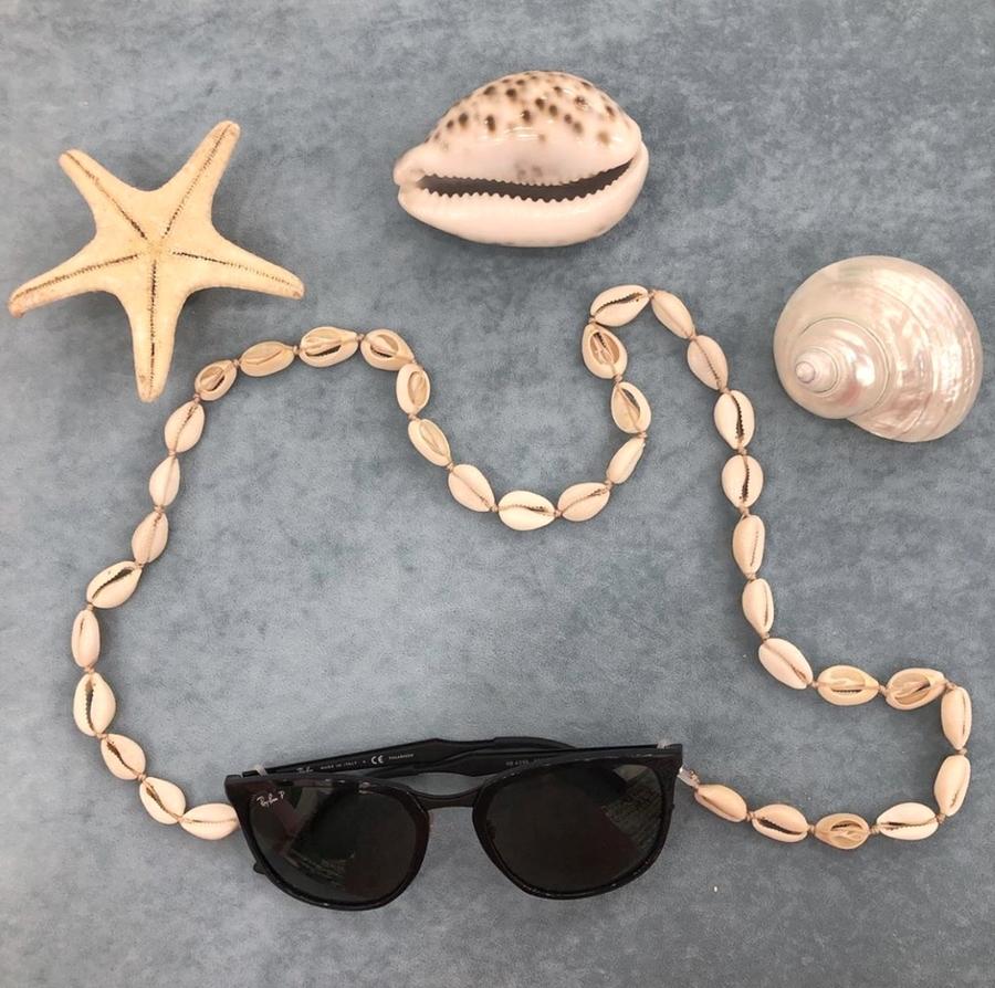 Boho Doğal Deniz Kabuğu Gözlük Zinciri