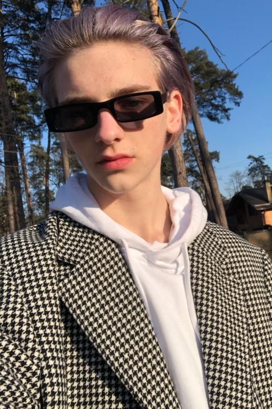 Botte Dikdörtgen Dar Çerçeveli Erkek Güneş Gözlüğü Siyah