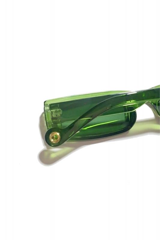 Botte Dikdörtgen Dar Çerçeveli Erkek Güneş Gözlüğü Yeşil