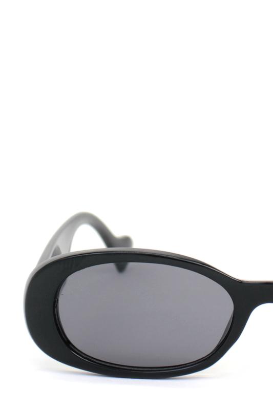Brooklyn Siyah Camlı Oval Kemik Çerçeveli Retro Bayan Güneş Gözlüğü Siyah