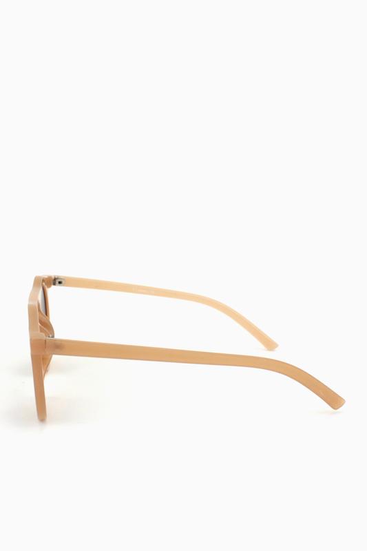 Carla Retro Kahverengi Yuvarlak Camlı Unisex Güneş Gözlüğü Karamel