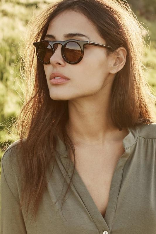 Carla Retro Kahverengi Yuvarlak Camlı Unisex Güneş Gözlüğü Leopar