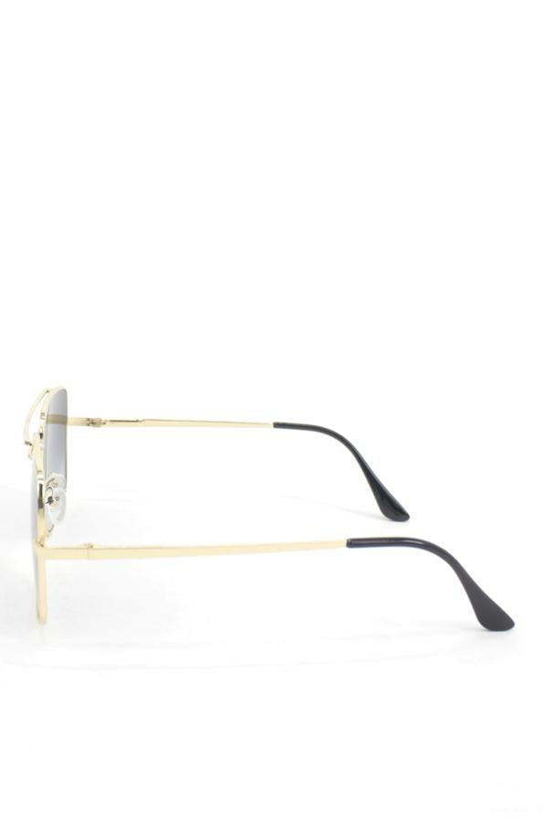 Class Gold Metal Çerçeveli Siyah Degrade Camlı Kare Unisex Güneş Gözlüğü