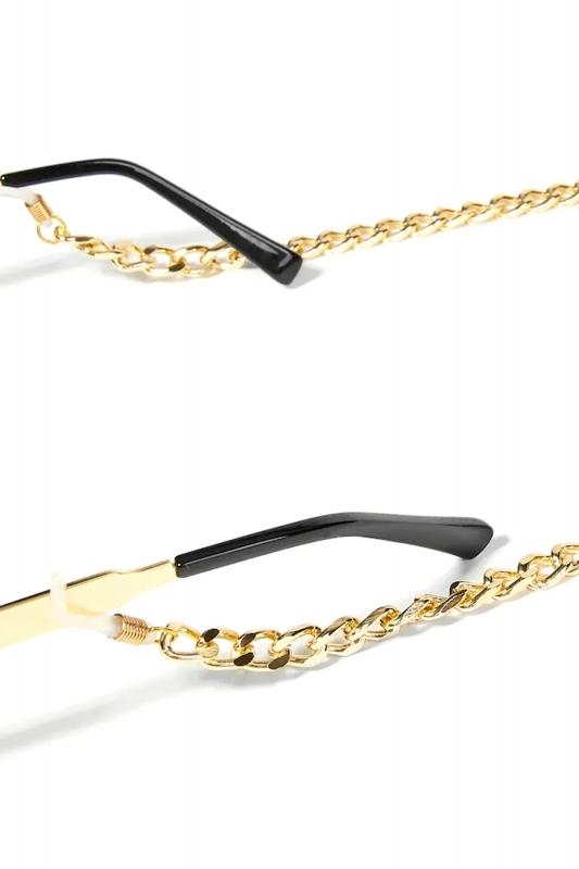 Cool Kalın Gözlük Zinciri Gold