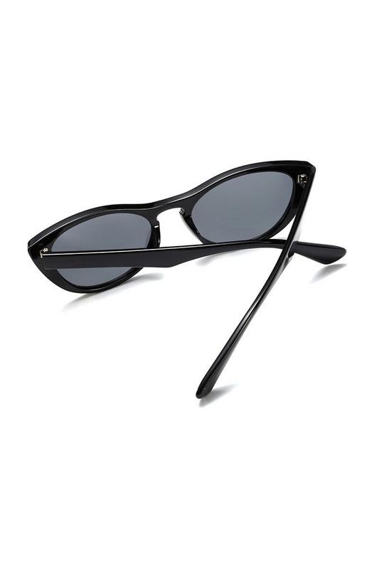 Cutie Kemik Çerçeveli Cat Eye Güneş Gözlüğü Siyah