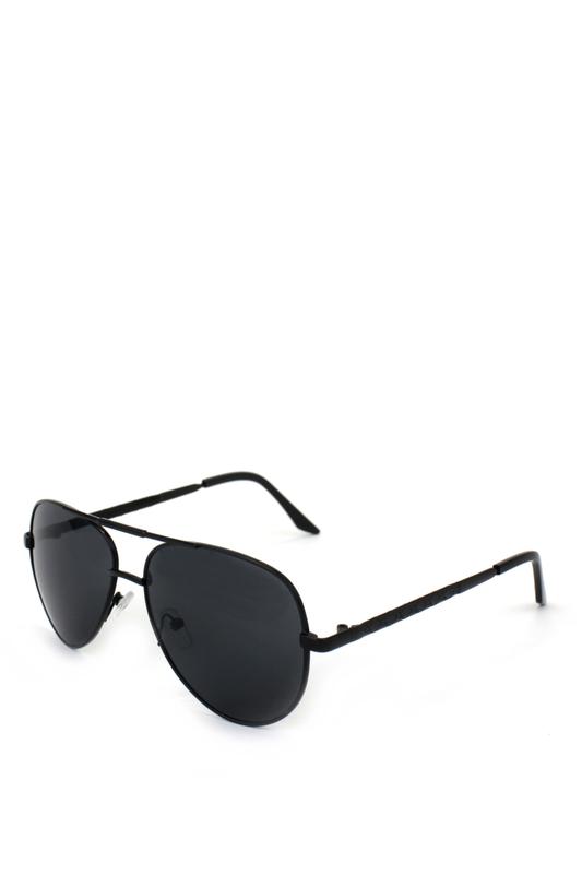 Dame Metal Çerçeveli Damla Unisex Güneş Gözlüğü Siyah