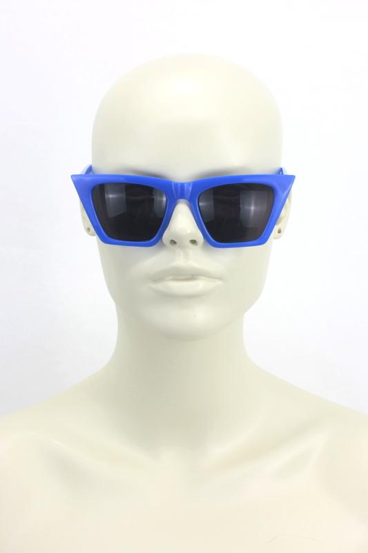 Designer Cat Eye Köşeli Bayan Güneş Gözlüğü Aynalı Koyu Mavi
