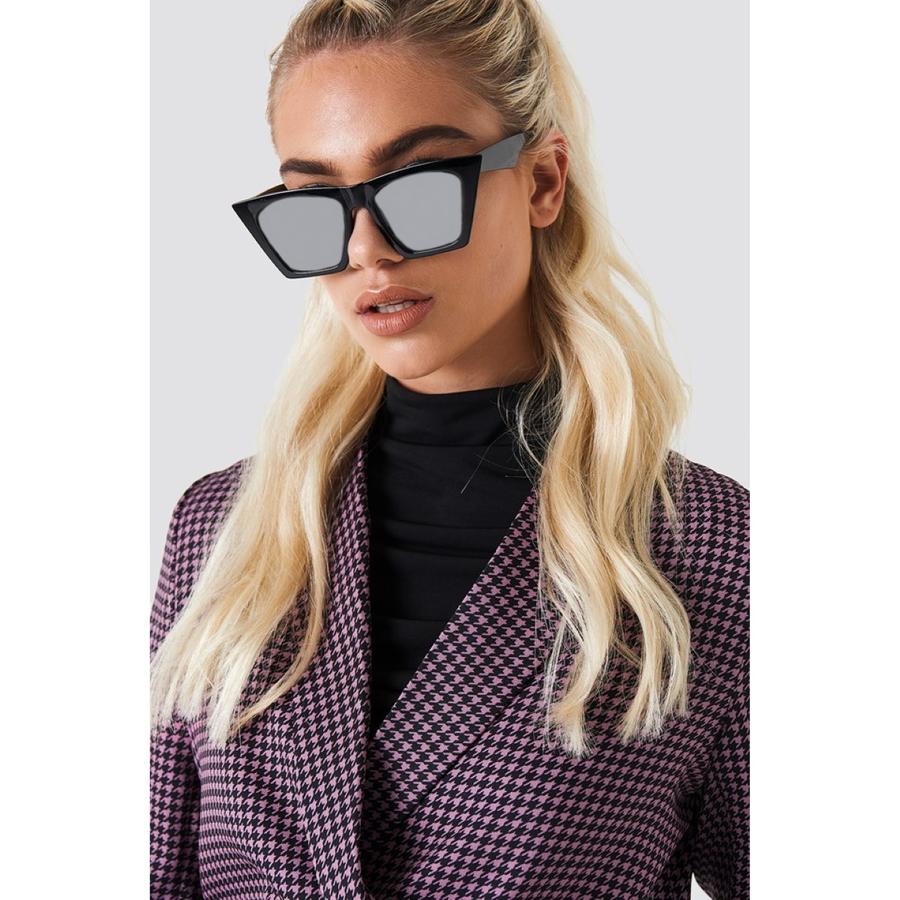 Designer Cat Eye Köşeli Bayan Güneş Gözlüğü Aynalı Siyah