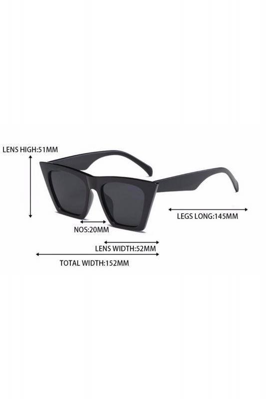 Designer Cat Eye Köşeli Bayan Güneş Gözlüğü Leopar Siyah