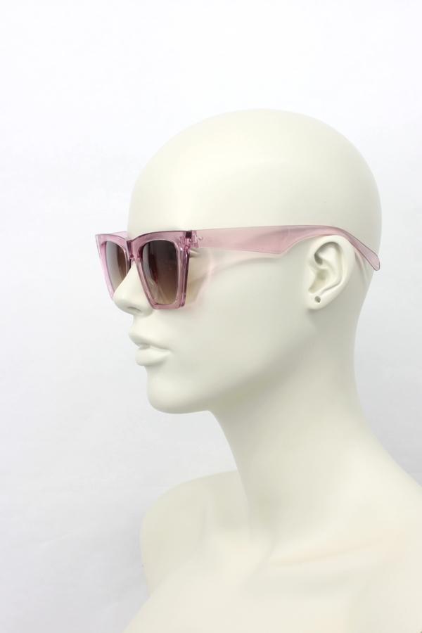 Designer Cat Eye Köşeli Bayan Güneş Gözlüğü Pembe