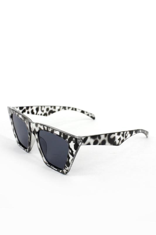 Designer Cat Eye Köşeli Bayan Güneş Gözlüğü Siyah Leopar