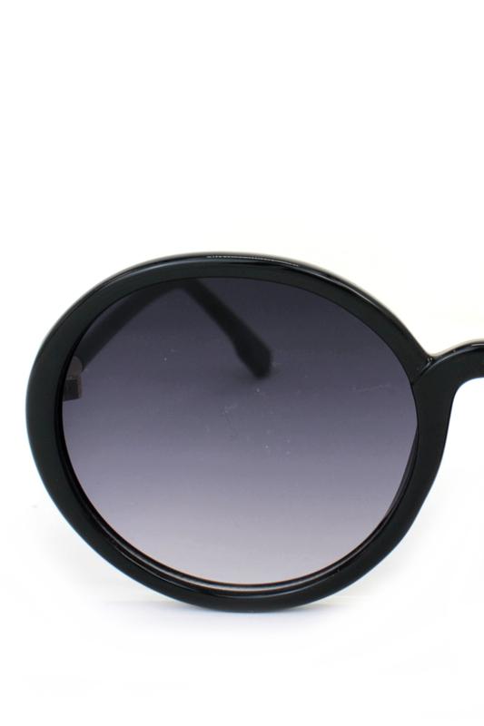 Dia Siyah Degrade Camlı Yuvarlak Köşeli Bayan Güneş Gözlüğü Siyah