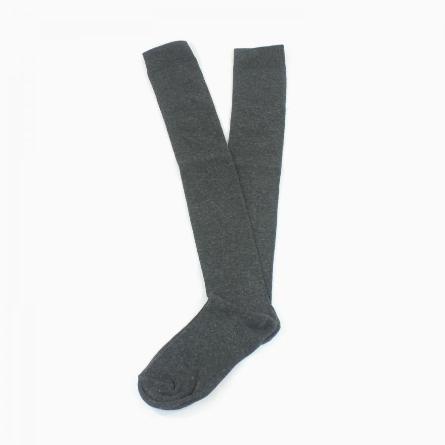 Diz Üstü Koton Çorap Füme