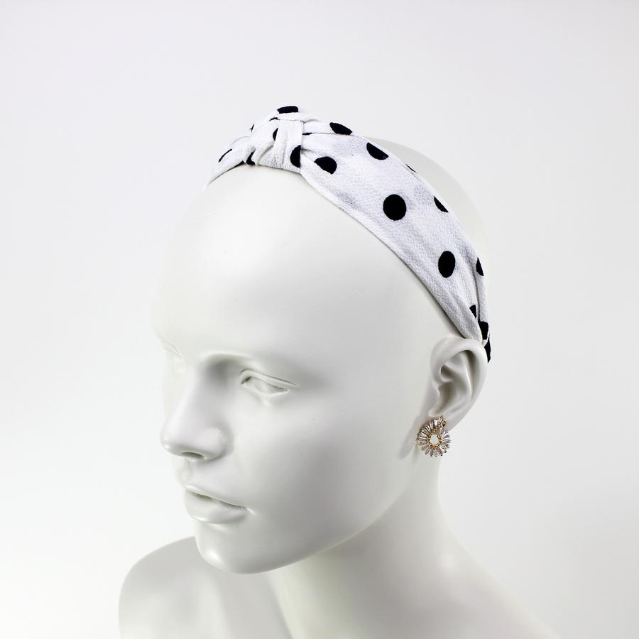 Düğümlü Puanlı Taç Saç Aksesuarı Beyaz
