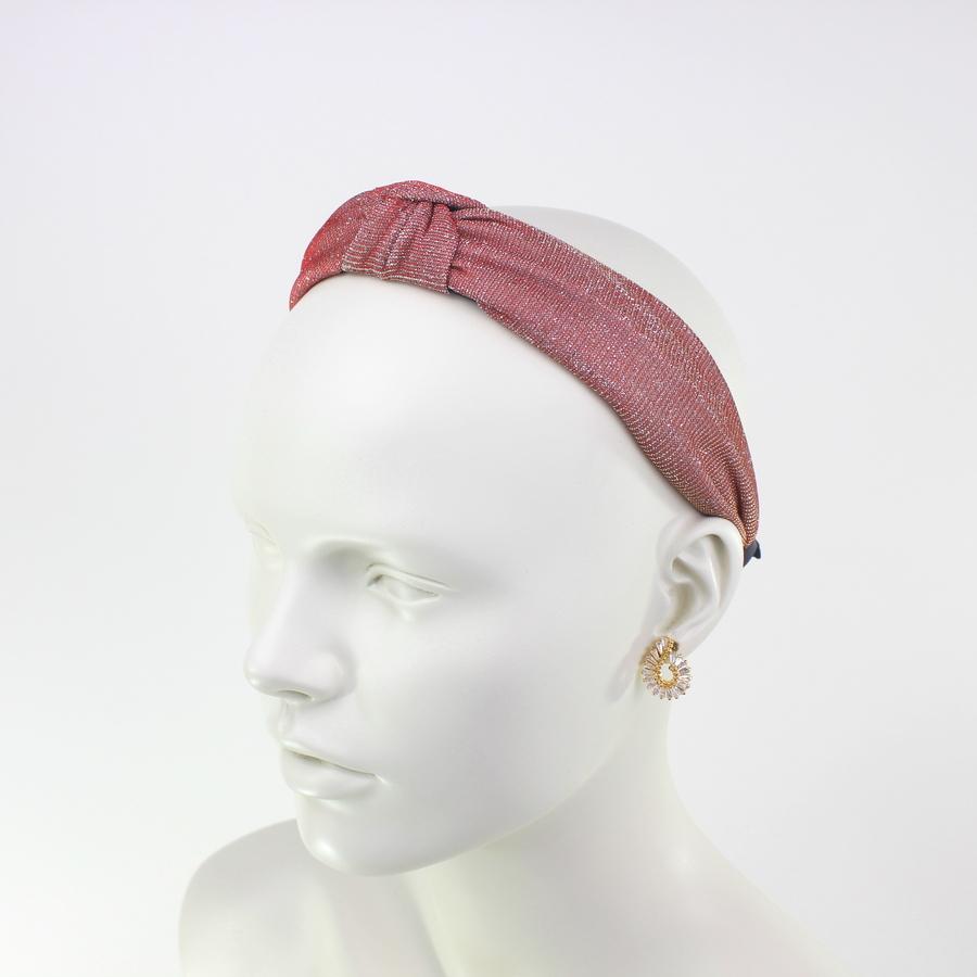 Düğümlü Simli Taç Saç Aksesuarı Kırmızı