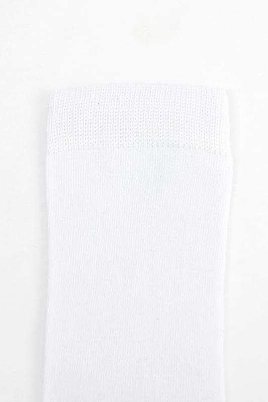 Düz Pamuklu Diz Altı Çocuk Çorabı Siyah Beyaz 6'lı Paket