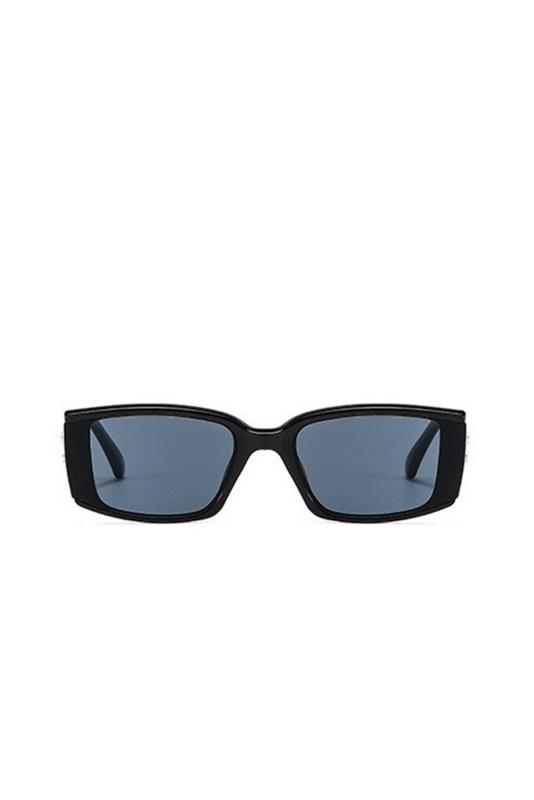 Emma Dikdörtgen Çerçeveli Erkek Güneş Gözlüğü Siyah