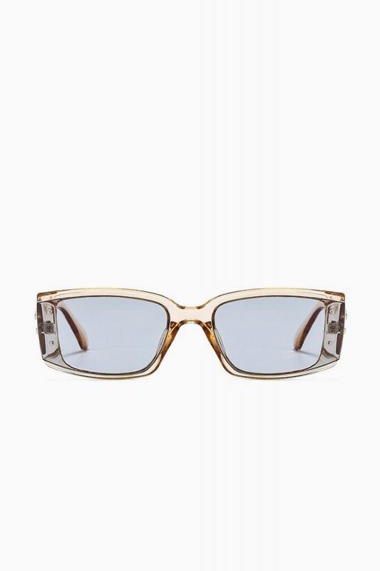 Emma Füme Camlı Dikdörtgen Çerçeveli Erkek Güneş Gözlüğü Açık Kahverengi