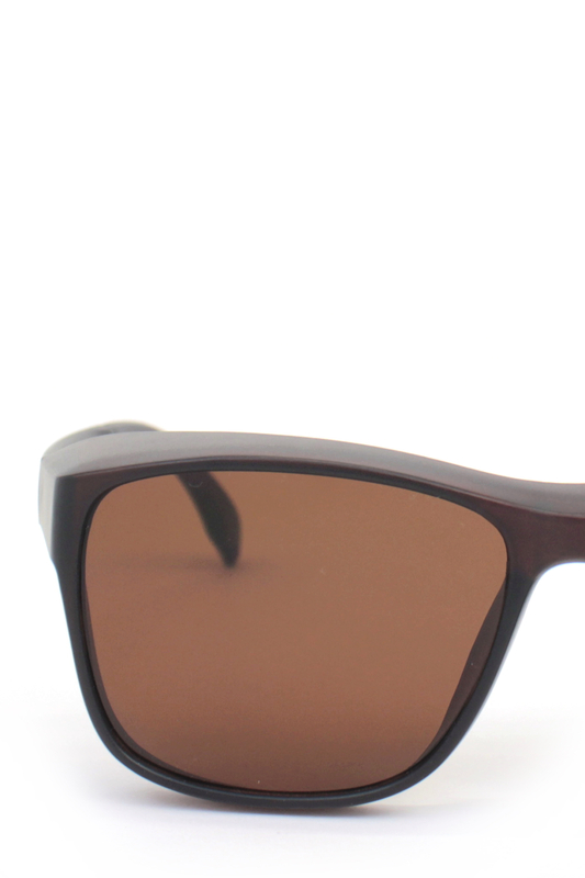 Empire Kahverengi Camlı Büyük Dikdörtgen Unisex Güneş Gözlüğü Mat Kahverengi
