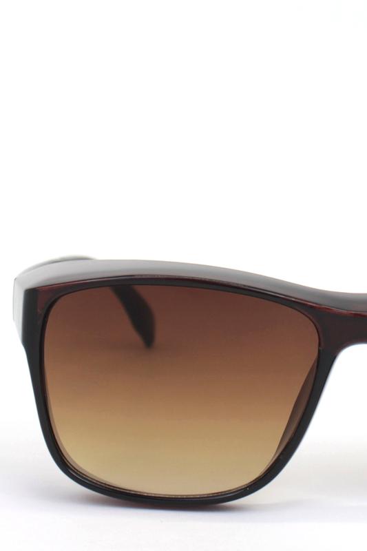 Empire Kahverengi Degrade Camlı Büyük Dikdörtgen Unisex Güneş Gözlüğü Kahverengi