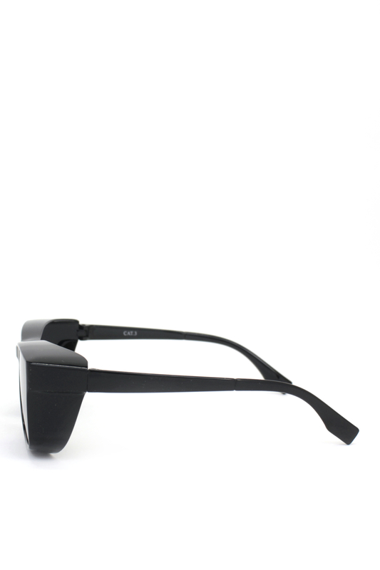 Empire Siyah Camlı Büyük Dikdörtgen Unisex Güneş Gözlüğü Siyah