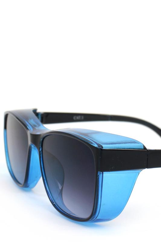 Empire Siyah Degrade Camlı Büyük Dikdörtgen Unisex Güneş Gözlüğü Siyah Mavi