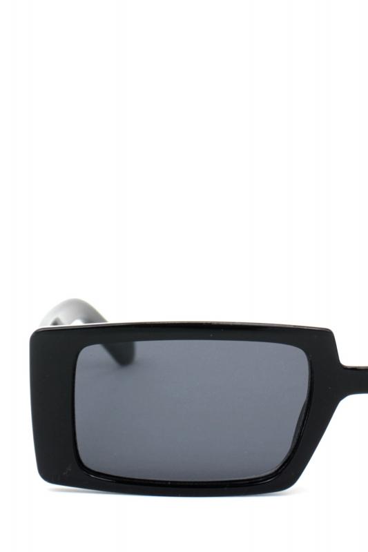 Gary Dikdörtgen Büyük Erkek Güneş Gözlüğü Siyah