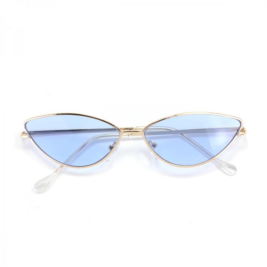 Gentle Gold Çerçeveli Küçük Cat Eye Güneş Gözlüğü Mavi